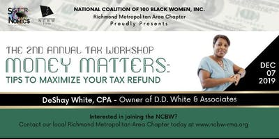 NCBW RMAC Money Matters Tax Workshop