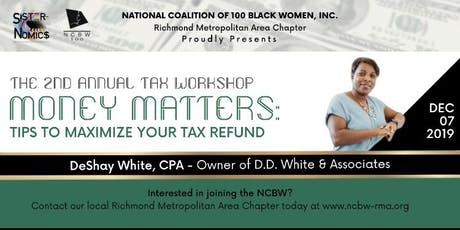 NCBW RMAC Money Matters Tax Workshop tickets
