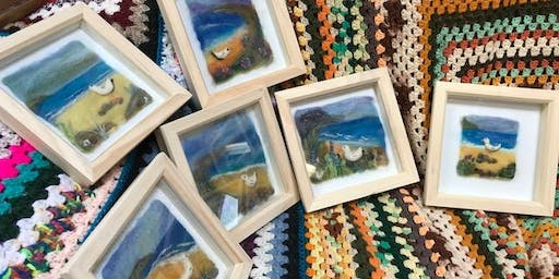 Needle-felted Seascapes with Maxine