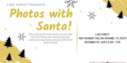 Free Photos with Santa at Lake Forest