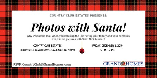 Free Photos with Santa at Country Club Estates