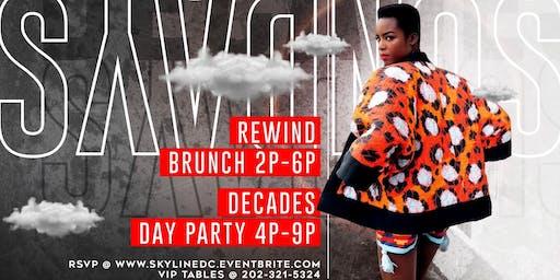 Brunch + DayParty | SkyLineDC Decades Sundays