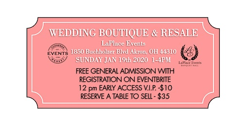 FREE Wedding Boutique Bridal Show and Resale by Cornered Market Events