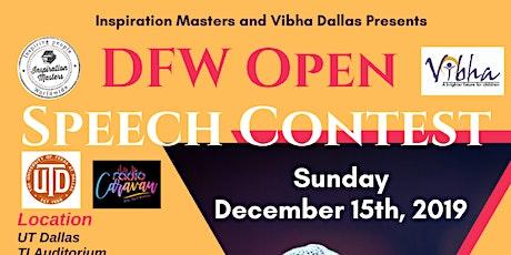 DFW Open Speech Contest tickets