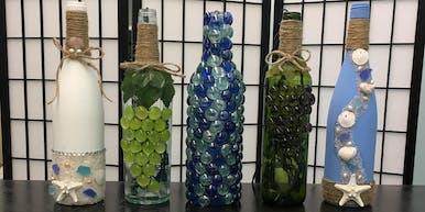 Wine Bottle Decorating Event