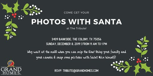 Free Photos with Santa at The Tribute