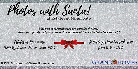 Free Photos with Santa at Miramonte tickets
