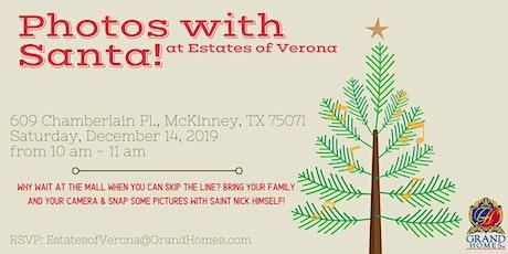 Free Photos with Santa at Verona tickets