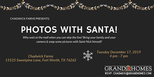 Free Photos with Santa at Chadwick Farms