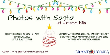 Free Photos with Santa at Frisco Hills tickets