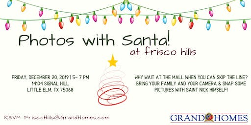 Free Photos with Santa at Frisco Hills