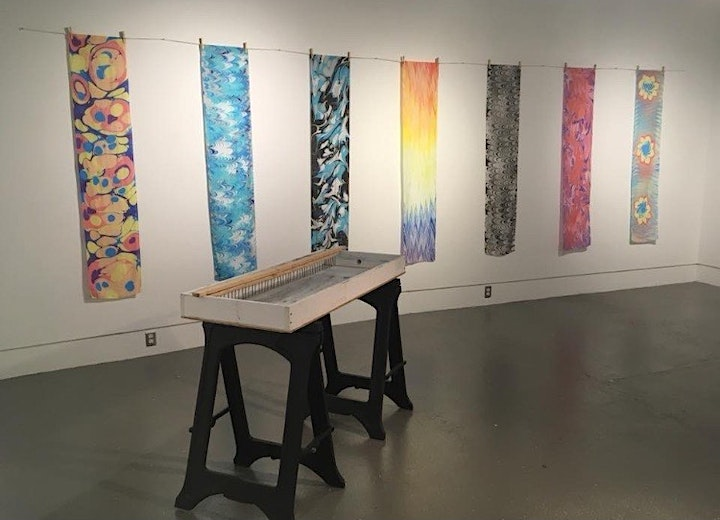 Silk Scarf and Canvas Water Marbling Workshop image