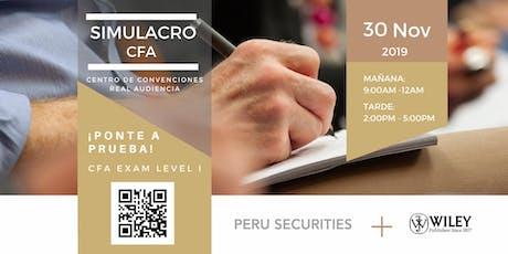 Simulacro Examen CFA  Nivel I tickets
