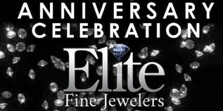 Elite Fine Jewelers' 3rd Anniversary Celebration HUGE SAVINGS! Door Prizes! Raffles! tickets