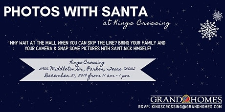 Free Photos with Santa at Kings Crossing tickets