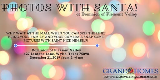 Free Photos with Santa at Dominion of Pleasant Valley