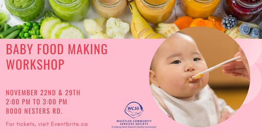 Baby Food Making Workshop