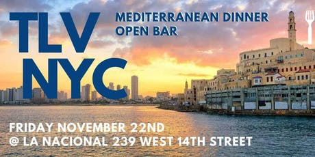 TLV in NYC: A Friday Night Shabbat Experience in the Mediterranean tickets