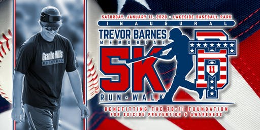TB11 - Trevor Barnes Memorial 5k for Suicide Prevention & Awareness