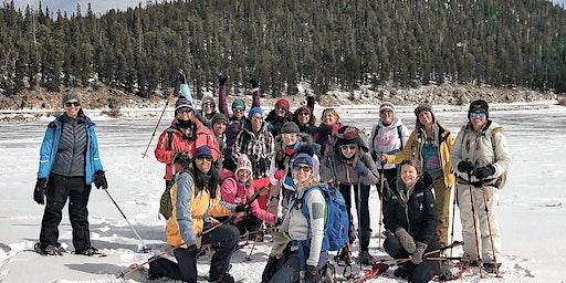 Women's snowshoe adventure hike