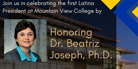 Reception for Dr. Beatriz Joseph, Ph.D. – President, Mountain View College