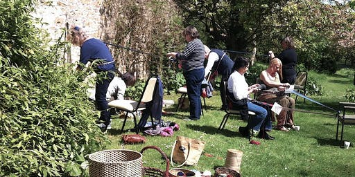 Wild Weaving at the Award Winning Nant-y-Bedd Garden