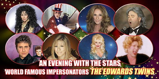 Cher Elton John Streisand & More Edwards Twins 2 Brothers/100 Stars Dinner