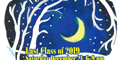 Silent Night and Sip While You Paint Party
