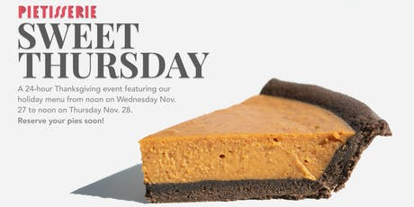 Sweet Thursday at PieTisserie (24 hour Event and Pie Sale) tickets