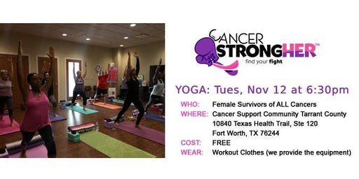 Cancer StrongHER Yoga - Free November 2019 Class