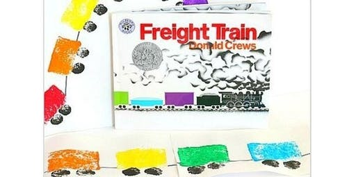 Early Art-Literacy and Art Inspired for Littles. Freight Train Sponge Painting (2019-11-16 starts at 10:00 AM)