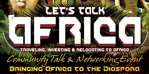 Let's Talk Africa Community Talk & Networking Event