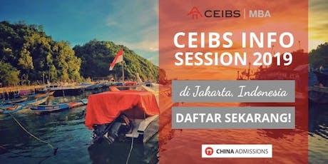 CEIBS Info Session 2019 di Jakarta, Indonesia – Daftar Sekarang! tickets