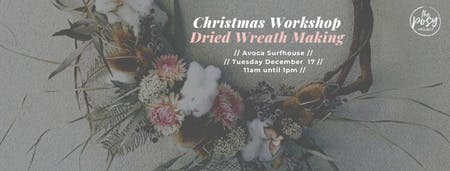 Christmas Wreath Making at Avoca Surfhouse