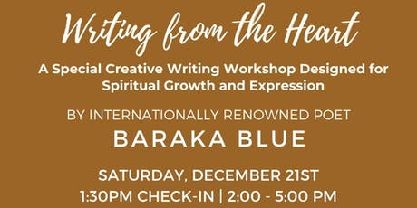 Writing from the heart tickets