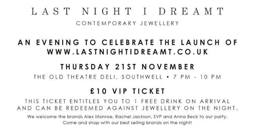 LAST NIGHT I DREAMT Contemporary Jewellery | Website Launch Evening