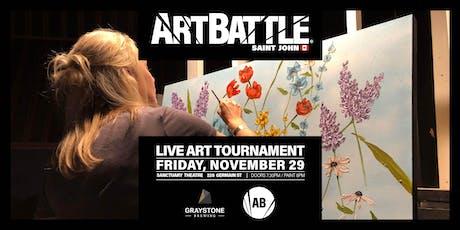 Art Battle Saint John - November 29, 2019 tickets