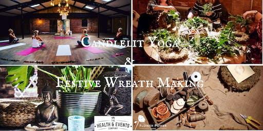 Candlelit Yoga & Festive Wreath Making