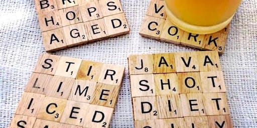 Up-cycled Scrabble Tile Crafts Adult Workshop