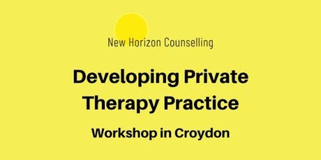 Developing Private Therapy Practice tickets