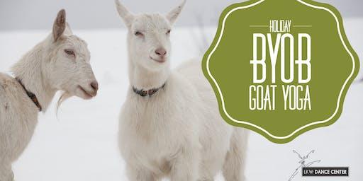 Holiday BYOB Goat Yoga