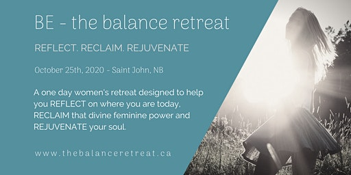 BE - the balance retreat [Saint John 2020]