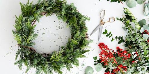 DIY Holiday Live Wreath