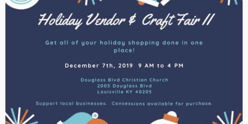 Holiday Craft & Vendor Fair II