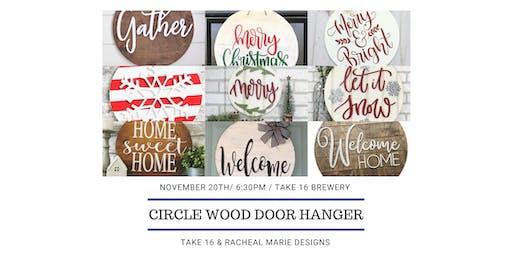 Make Your own Circle Wood Door Hanger