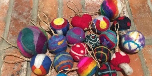 Christmas Ornaments with Needle Felting