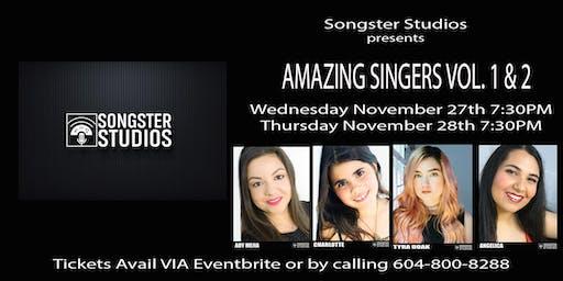 Songster Studios Presents - AMAZING SINGERS VOL. 1 & 2