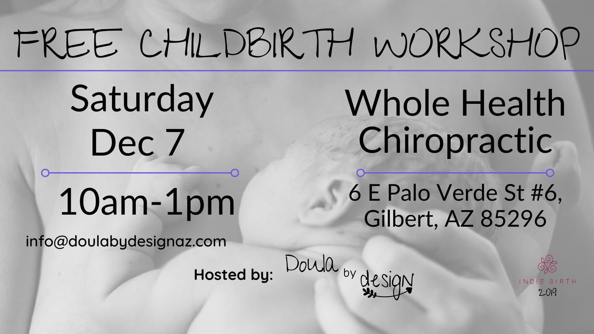 Free Childbirth Workshop- Dec
