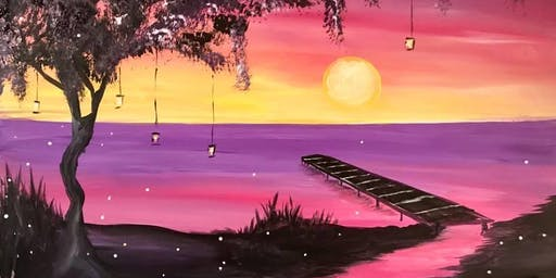 Firefly Sunset Painting Event at Roy's La Jolla