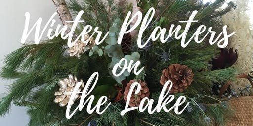 Winter Planters on the Lake